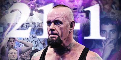 Undertaker Streak Ended 21 - 1