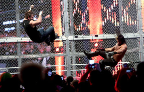 Fan Video Of Ambrose and Rollins Falling From HIAC, Paige Responds To Lana Mocking Her On Twitter