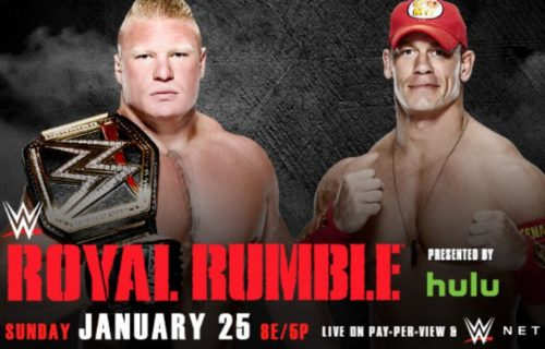 How WWE Is Billing Cena vs. Lesnar at the Royal Rumble, First Rumble Entrant Announced