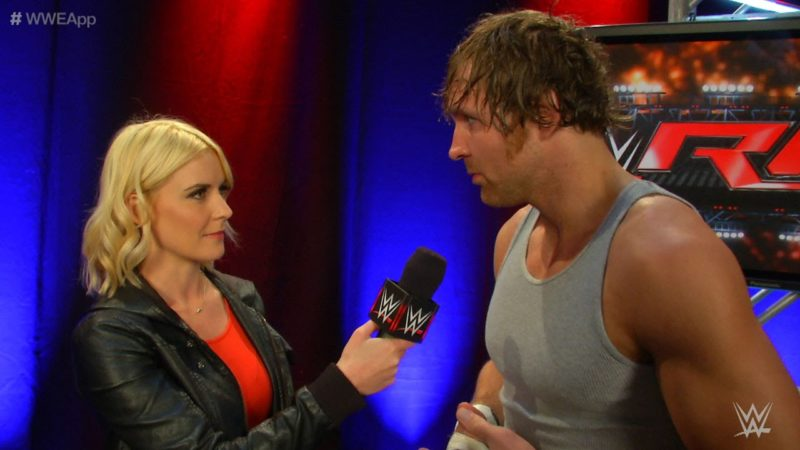 dean ambrose - renee young....