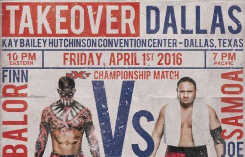 NXT Takeover: Dallas Results: Balor vs. Joe