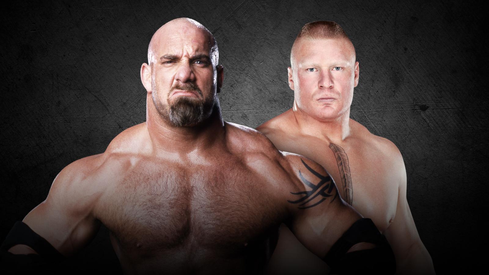 Watch Brock Lesnar And Goldberg Face Off Before Survivor Series