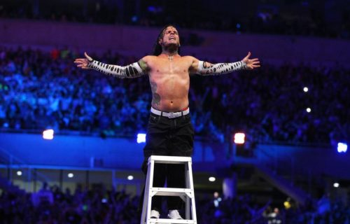 Jeff Hardy backstage for Smackdown Live