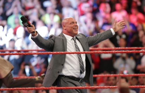 Kurt Angle talks about working his first WWE promo with Vince McMahon