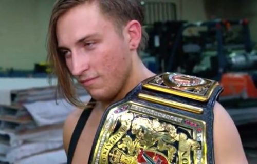 Pete Dunne celebrates his year long reign as UK Champion