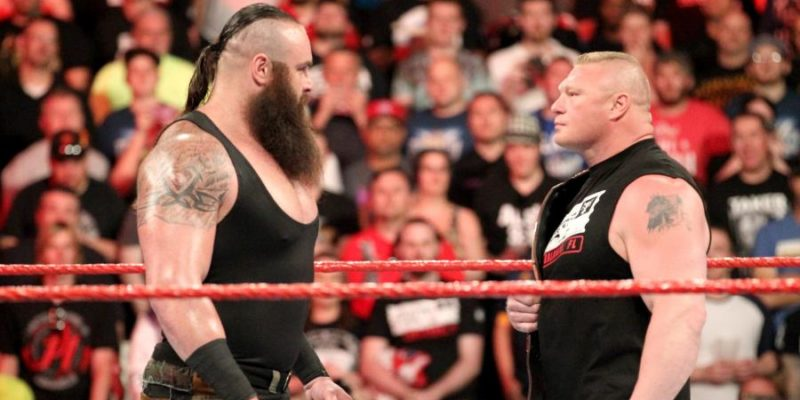Braun Strowman and Brock Lesnar