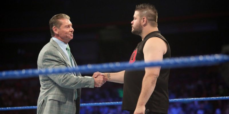 Vince McMahon and Kevin Owens