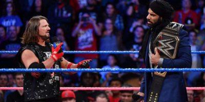Jinder Mahal and AJ Styles