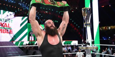 Braun Strowman with the Greatest Royal Rumble Championship