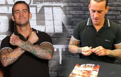 [Video] CM Punk's meet & greet session before ALL IN