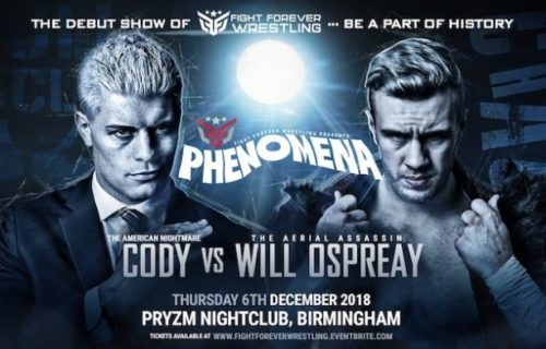 Cody Rhodes to take on Will Ospreay at Fight Forever's debut show