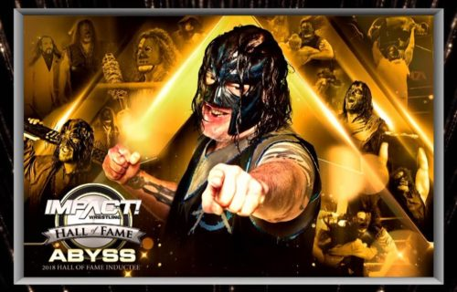 Kurt Angle, Mick Foley, Jeff Jarrett and more congratulate Abyss on being inducted into Impact Wrestling Hall of Fame