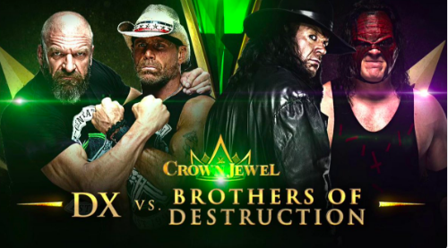 DX vs Brothers of Destruction official for Crown Jewel