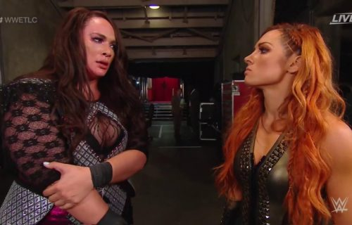 Becky Lynch confronts Nia Jax at WWE TLC