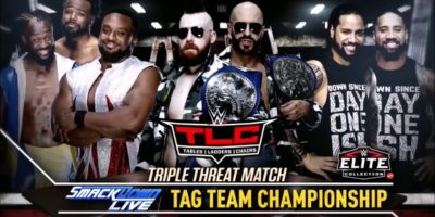 WWE TLC - SmackDown Tag Title Match
