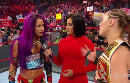 Ronda Rousey and Sasha Banks will face off in tag team action on Monday Night Raw