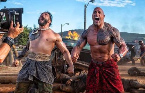 Roman Reigns working with The Rock in Hobbs And Shaw