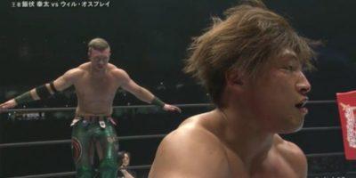 Will Ospreay measuring Kota Ibushi at Wrestle Kingdom 13