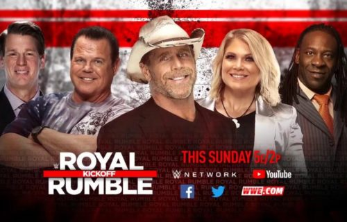 The broadcast team for Royal Rumble 2019 announced