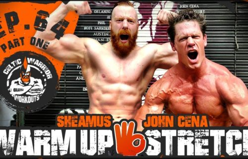Sheamus and John Cena working out together