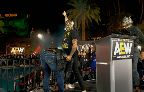 Pentagon Jr and Rey Fenix invade Double or Nothing Ticket Announcement Party