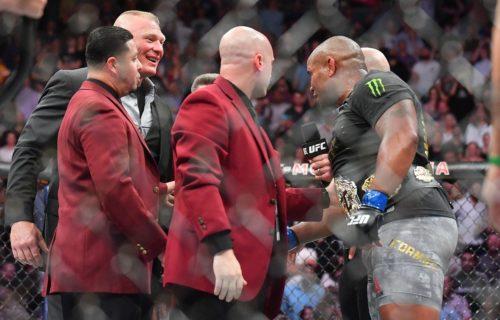 UFC World Heavyweight Champion teases WrestleMania appearance
