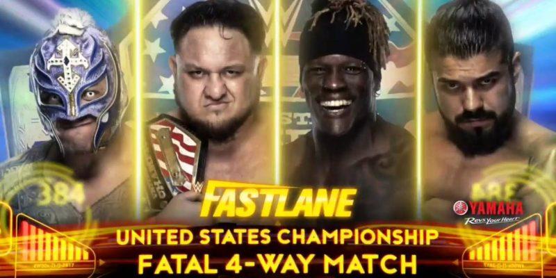 WWE Fastlane United States Championship Match