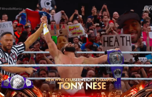 Tony Nese CAPTURES the Cruiserweight Championship at WrestleMania 35