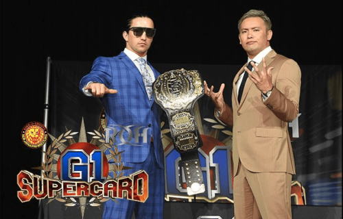 Jay White & Kazuchika Okada sign IWGP Heavyweight Title match contract for G1 Supercard