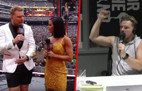 Pat McAfee describes Michael Cole losing it backstage at WrestleMania over his shorts