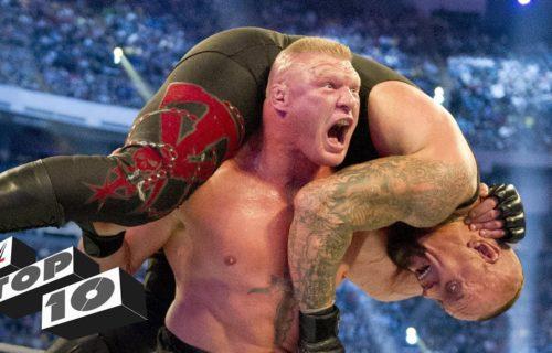 Top 10 SHOCKING WWE WrestleMania moments