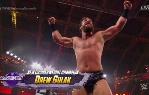 Drew Gulak wins WWE Cruiserweight Title