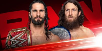 Seth Rollins vs Daniel Bryan Monday Night Raw