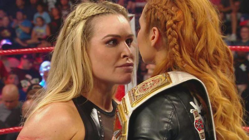 Becky Lynch and Natalya