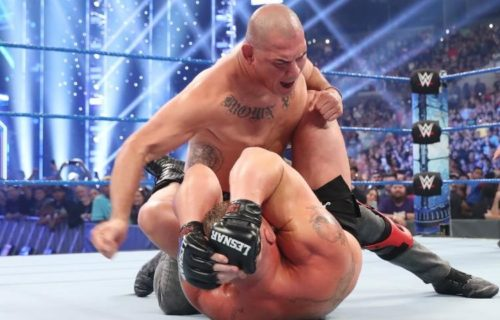 Brock Lesnar wins WWE Championship on SmackDown, gets taken down by Cain Velasquez