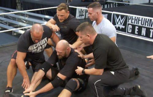 Braun Strowman attacks Tyson Fury at WWE PC (video)