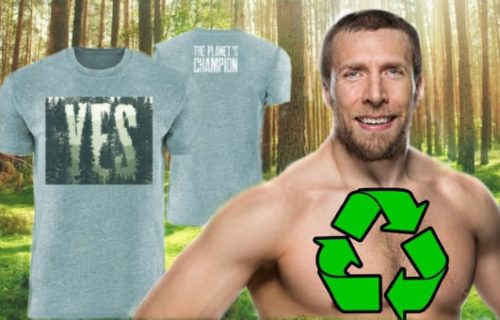 Daniel Bryan's new T-shirt is 100% eco-friendly and for a great cause too