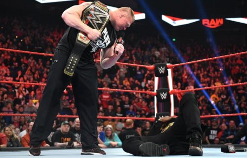 Recent Raw segment between Brock Lesnar and R Truth was reportedly unscripted
