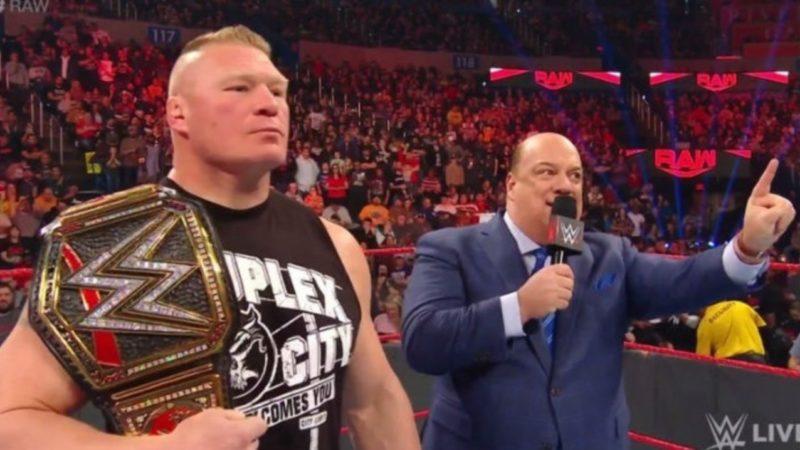 Brock Lesnar RAW Royal Rumble