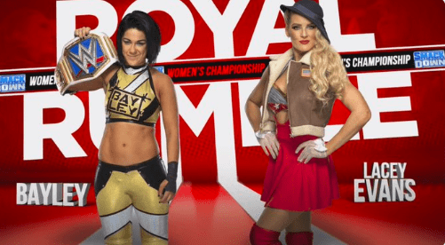 Bayley vs Lacey Evans for the SmackDown Women's Title added to Royal Rumble