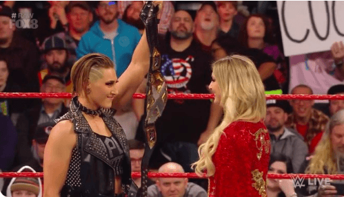 NXT Champion Rhea Ripley shows up on RAW, lays down WrestleMania 36 challenge for Charlotte Flair