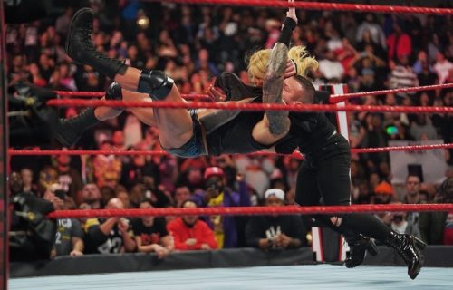 Randy Orton delivers an RKO to Beth Phoenix in the Main Event of RAW