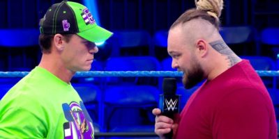 Bray Wyatt and John Cena on SmackDown
