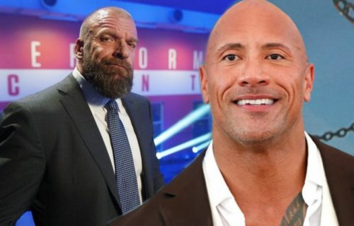 The Rock surprises Triple H with tribute