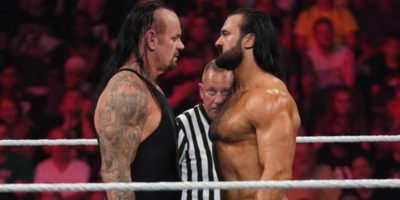 Drew McIntyre with the Undertaker