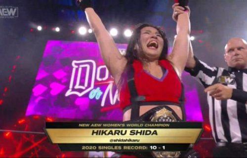 Hikaru Shida wins AEW Women's World Title