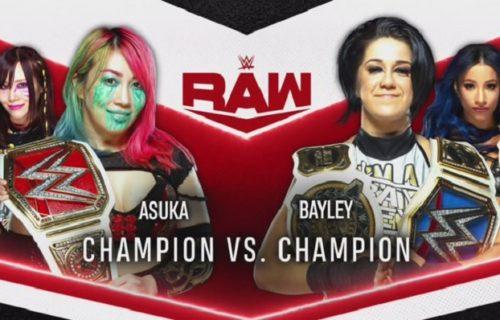 WWE announces champion vs. champion match for Monday Night Raw next week