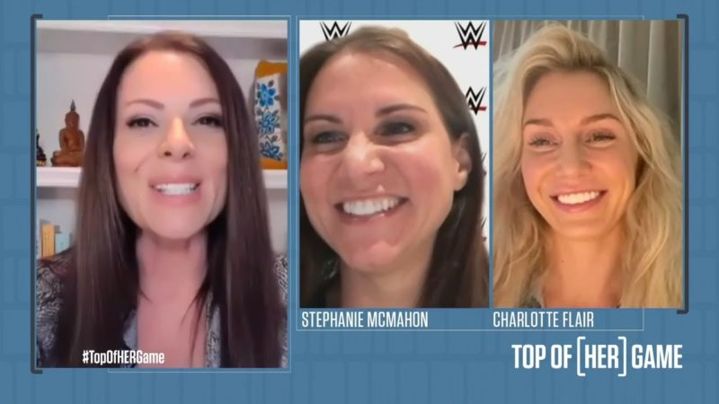 Vince McMahon's reaction to Stephanie McMahon wanting to join WWE; her relationship with Charlotte Flair