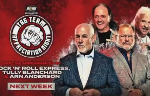 "AEW Dynamite ""tag-team appreciation night"" with Rock 'N' Roll Express set for 8/12"
