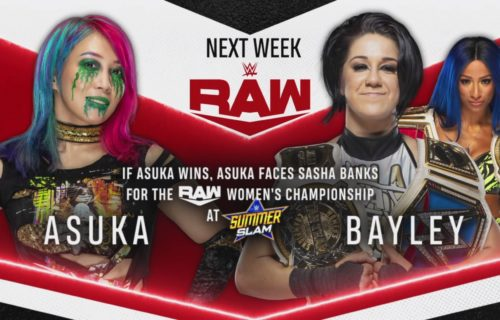 Two big matches announced for 8/10/2020 episode of WWE Raw